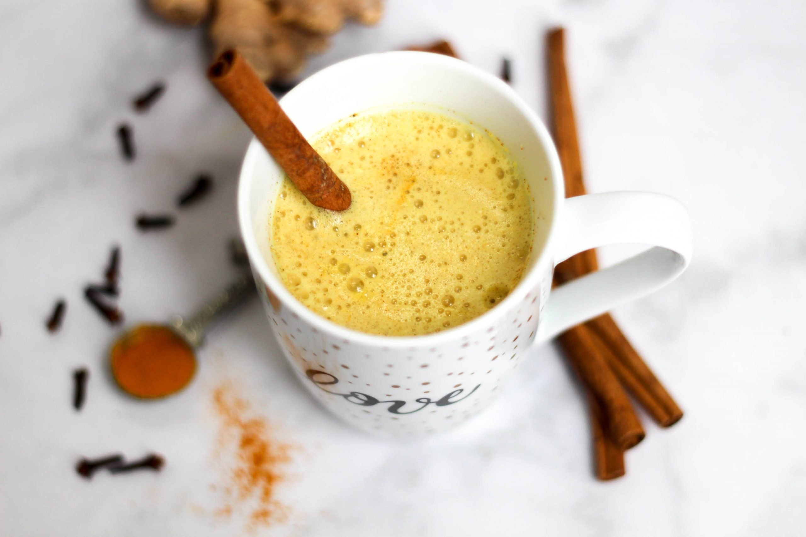 The golden milk latte! A delicious, healthy, and soothing concoction, also known as turmeric tea. It's lightly sweet and packed with nutrients and healing properties. fitnessista.com