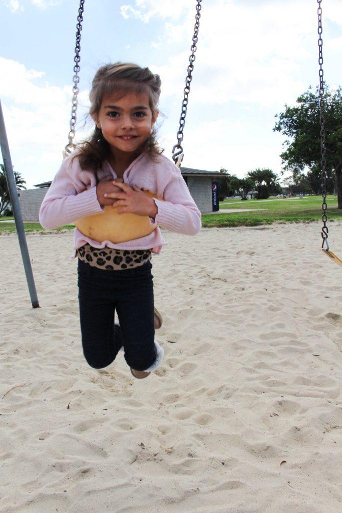 Liv on a swing