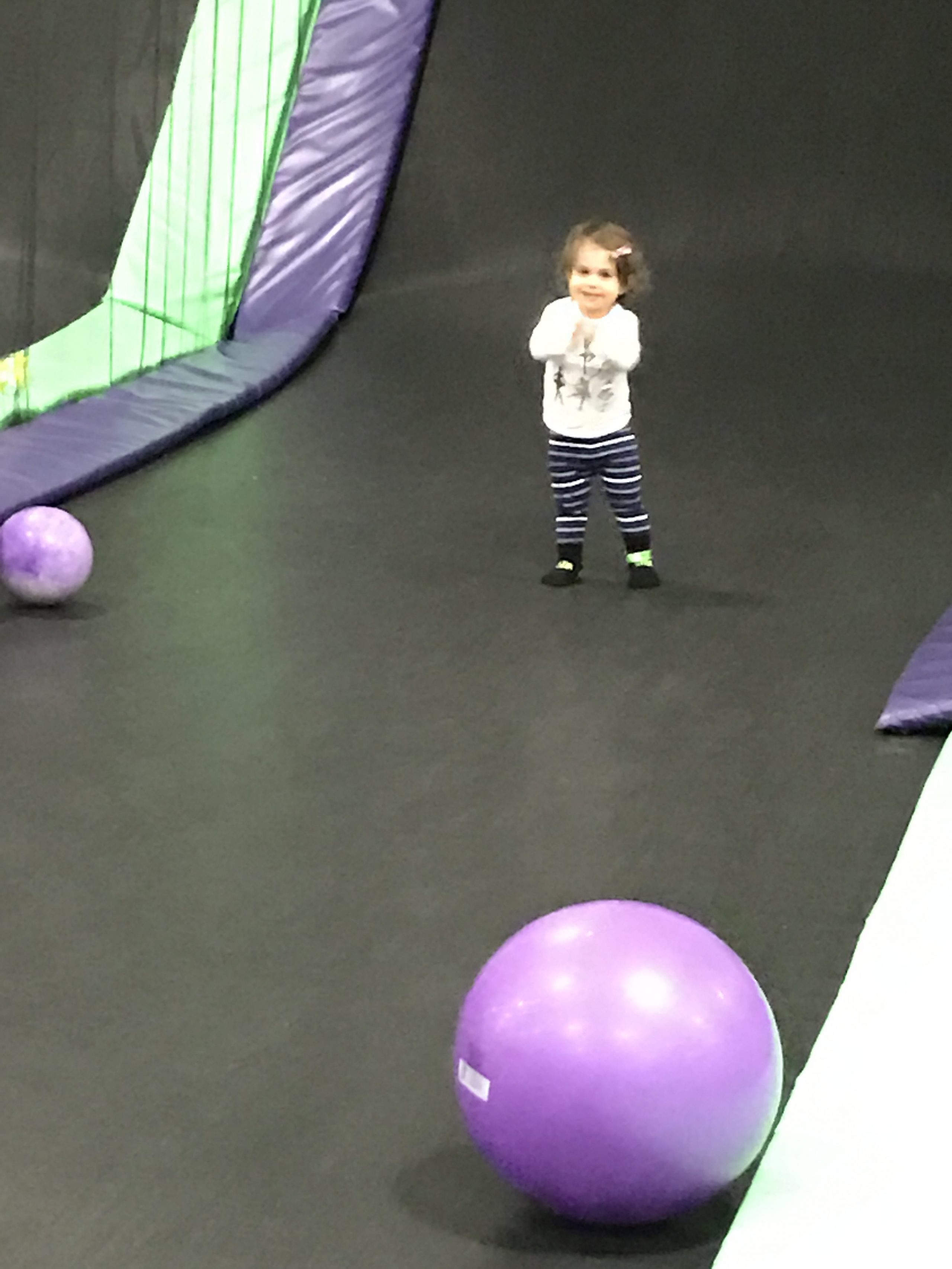 P on the trampoline