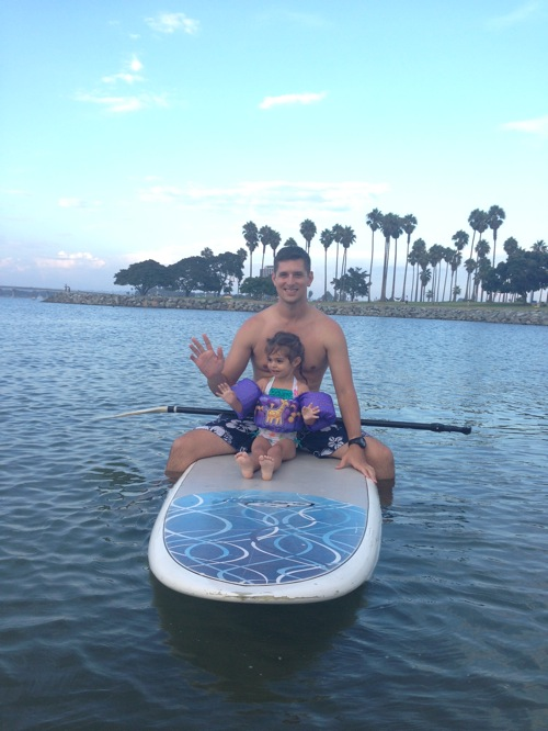 The Pilot and Livi Paddleboarding