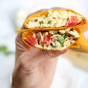 Easy, healthy curry chicken salad turmeric wraps (Paleo and gluten-free)