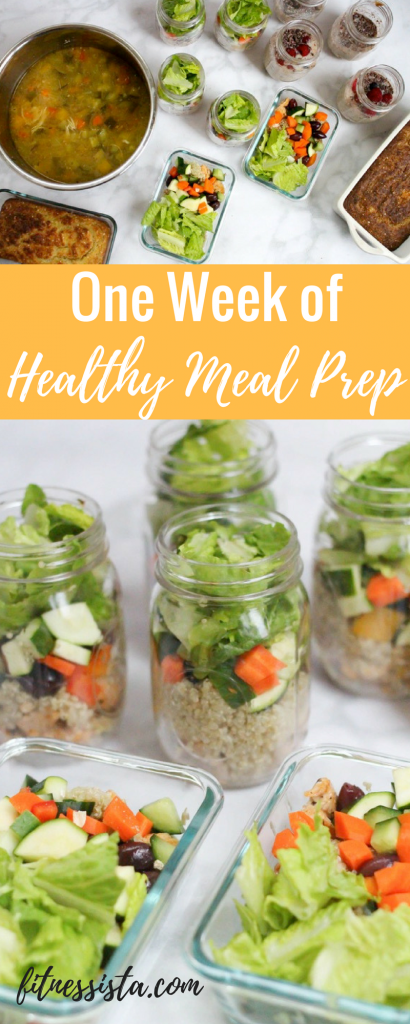 One week of healthy meal prep in one hour! See how to do it at fitnessista.com.
