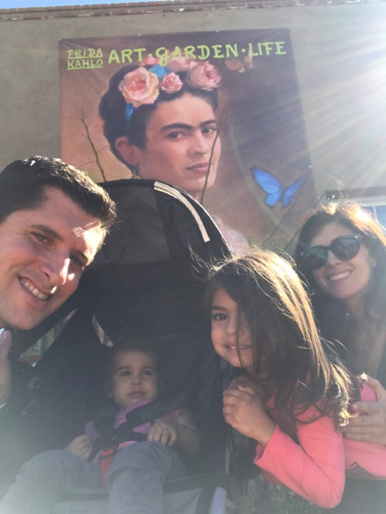 Family at the Frida Kahlo Exhibit at the Botanical gardens
