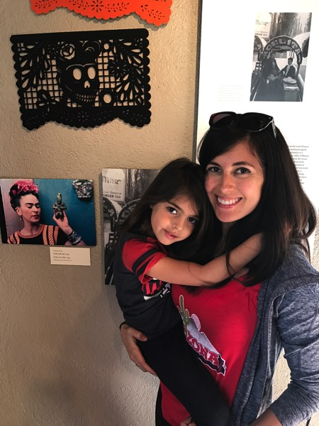 Liv and Me at Frida exhibit