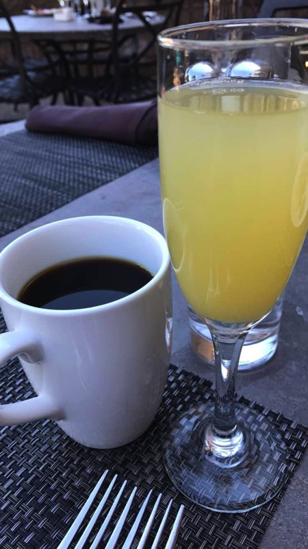 Coffee and mimosa