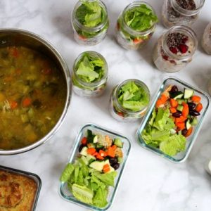 Meal prep for a week of clean and protein-packed eats. See how much you can make in an hour! All the steps are at fitnessista,com