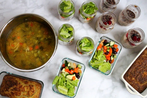 Meal prep for a week of clean and protein-packed eats. See how much you can make in an hour! All the steps are at fitnessista.com