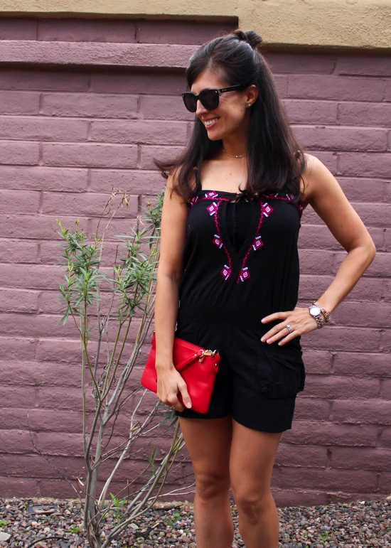 Me in a romper from Thred Up