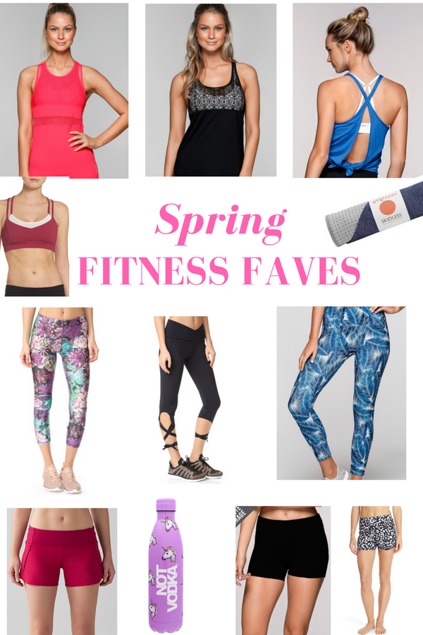 Spring Fitness Faves - Give your fitness gear a spring overhaul and give yourself a motivation boost with these fun finds! fitnessista.com