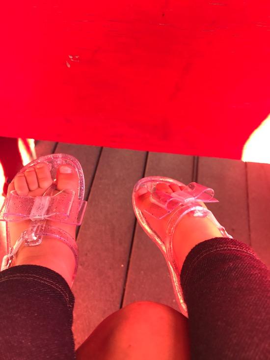 Tiny jelly shoes