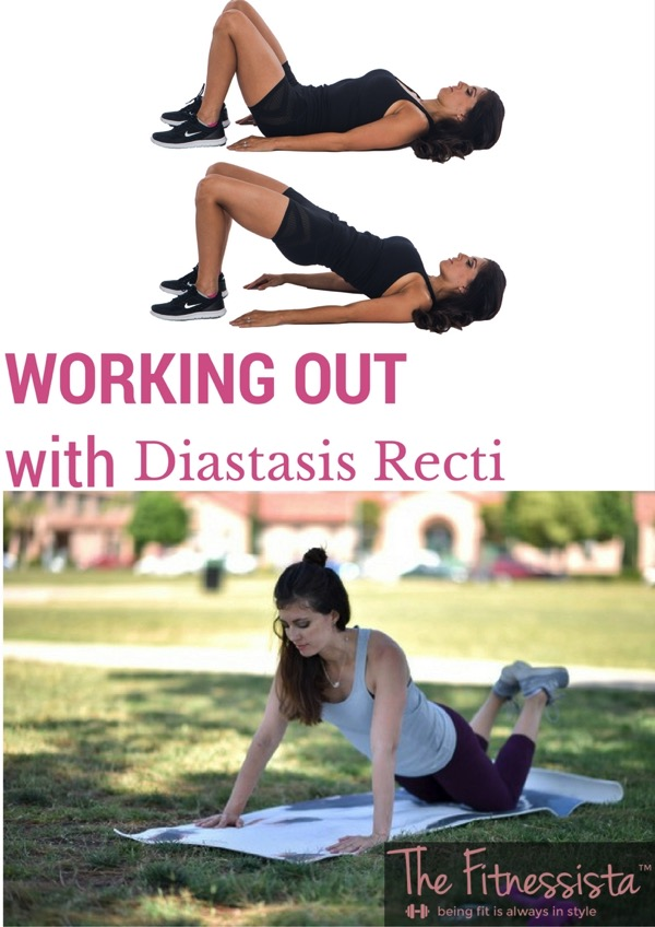Tips for safe workouts if you have diastasis recti, or abnormal ab separation after pregnancy. fitnessista.com