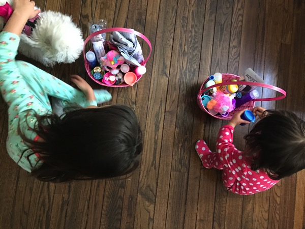 Girls and their Easter Baskets
