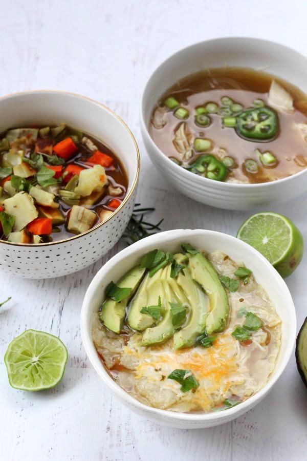 Healthy homemade single serving bone broth soups 5