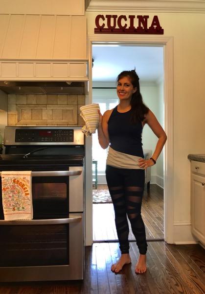 Kitchen towel workout