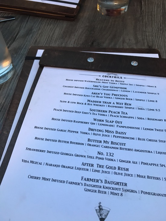 Steel magnolias cocktail menu