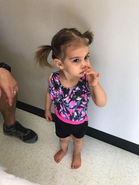 Tiny gymnast