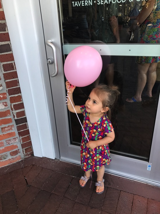 P and a pink Balloon