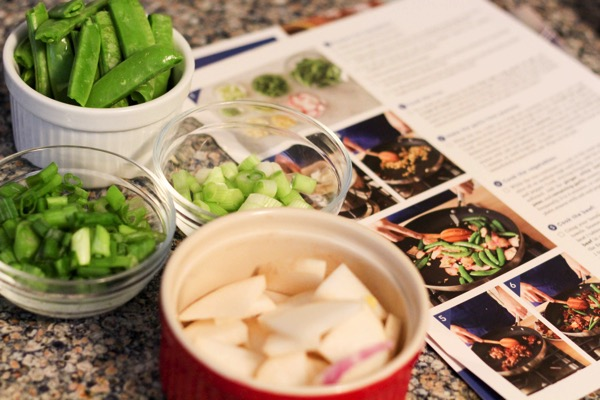 Blue apron recipe and ingredients