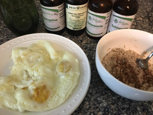 eggs, oats and supplements