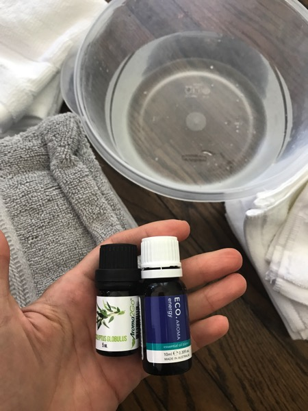 Essential oil washcloths