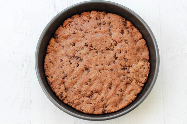 Gluten free protein cookie cake