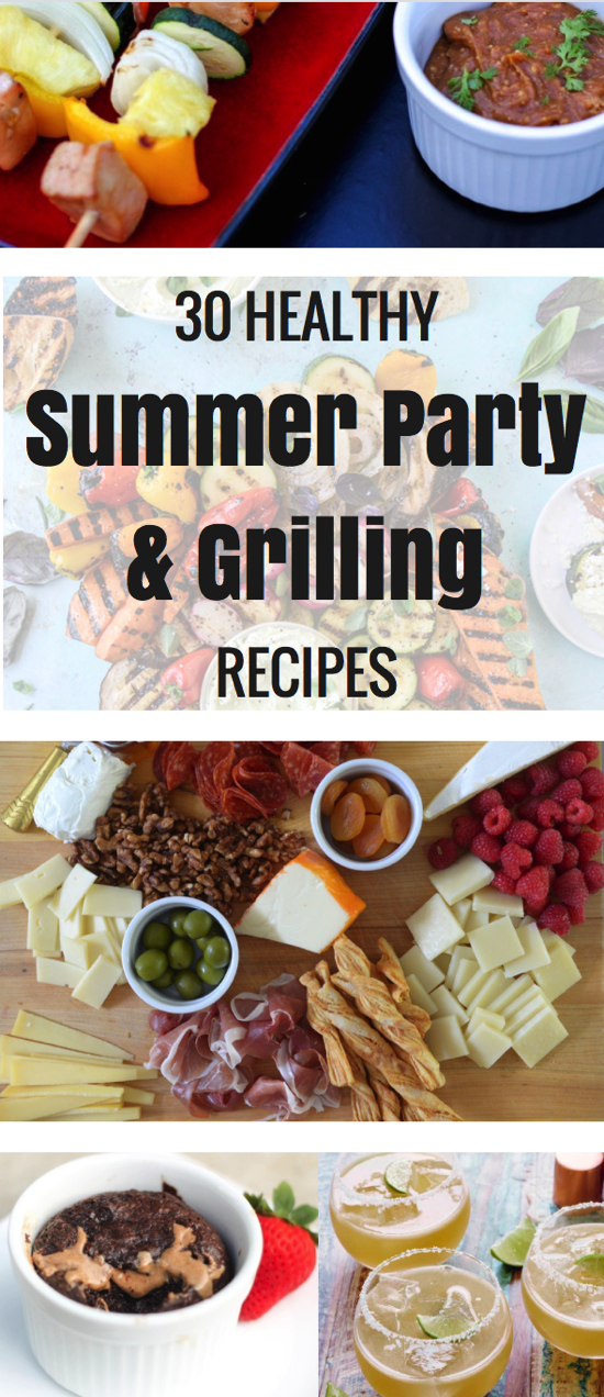 30 healthy summer party recipes for summer entertaining. This list includes recipes for summer grilling, summer desserts and summer appetizers! - fitnessista.com