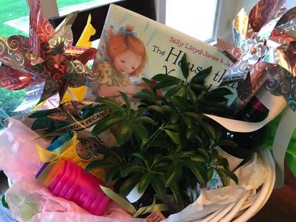 gift basket from neighbor