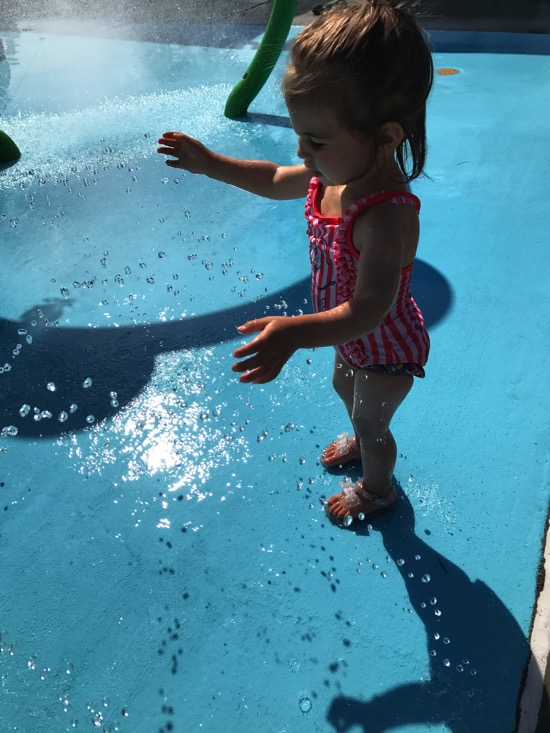 P at the Splash pad
