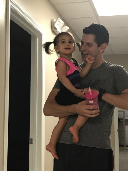 Daddy and our Tiny gymnast
