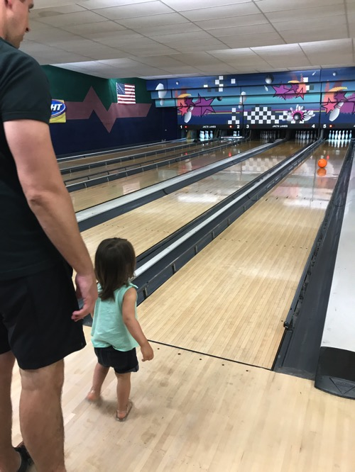 Tom and P bowling