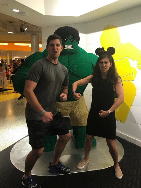 Tom and me with Lego Hulk