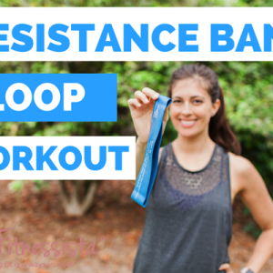 A total body workout using the resistance band loop! These are a great way to challenge your muscles in an entirely different way. Perfect for home workouts! fitnessista.com