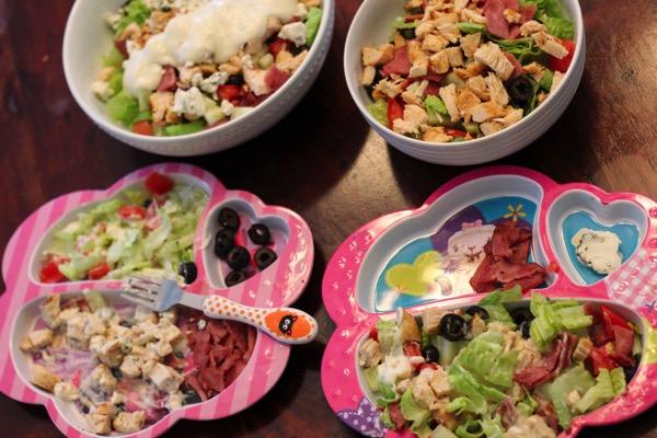 Cobb salads for dinner