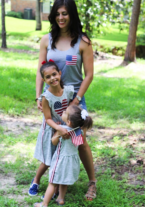 The girls and me ready for the 4th of July