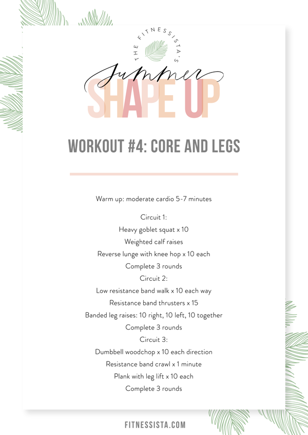 Workout 4 Core + Legs