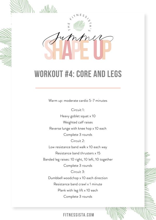 Workout 4 Core + Legs