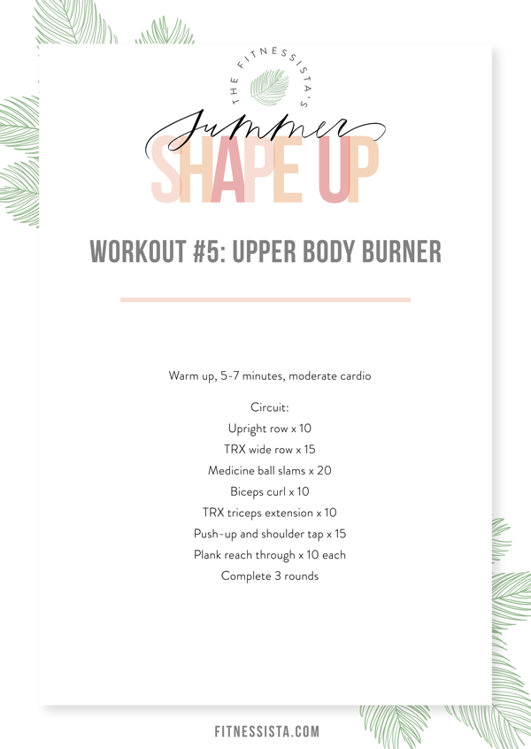 Workout 5 Upper Body Burner