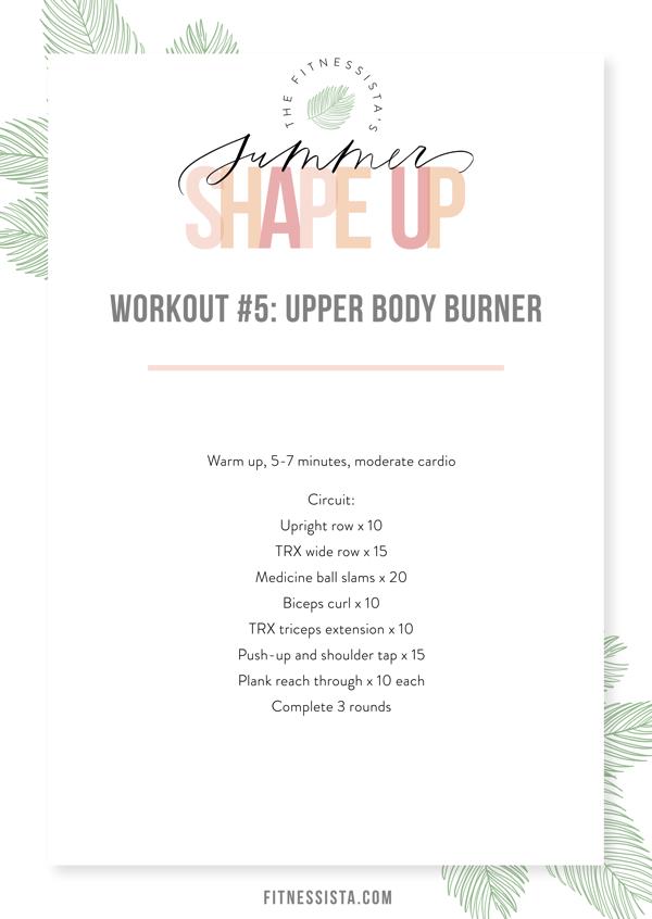 Workout 5 Upper Body Burner