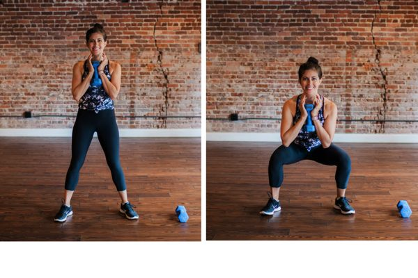 Heavy goblet squat