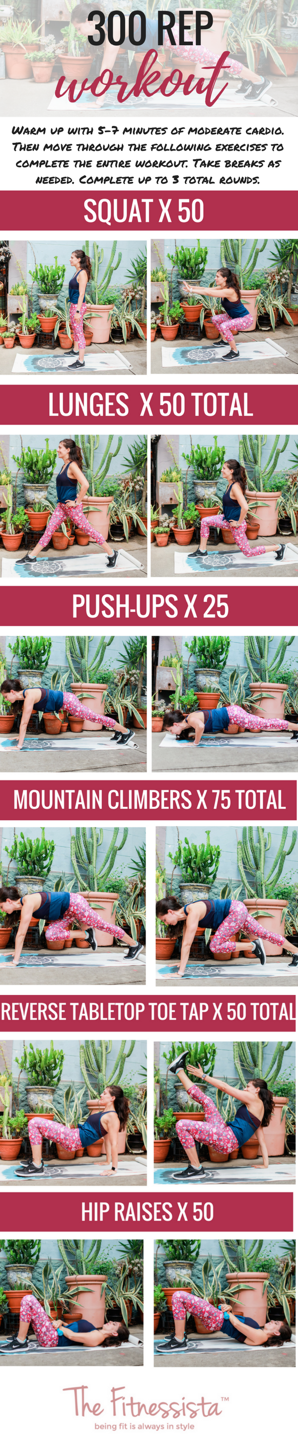 300 rep workout you can do ANYWHERE! grab a pair of dumbbells and get ready to get sweaty. fitnessista.com