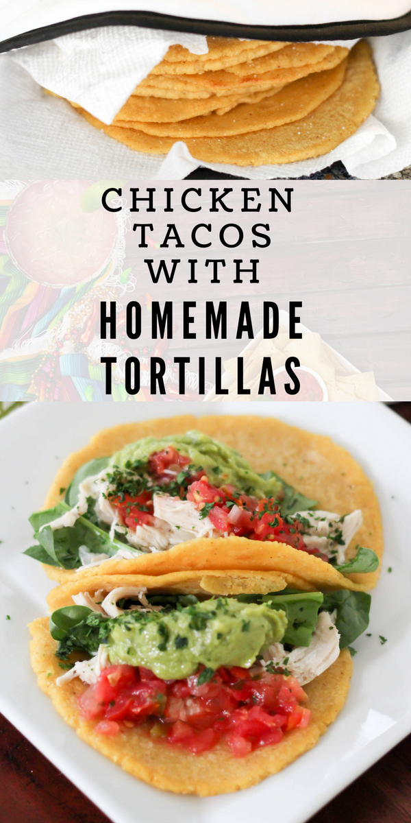 Chicken tacos with homemade tortillas | fitnessista.com