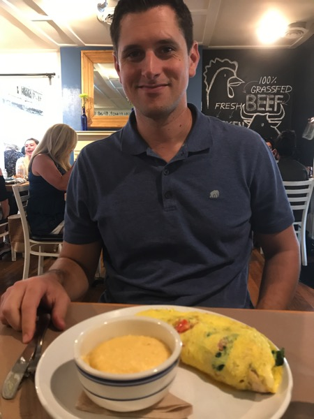 Omelet and a hottie