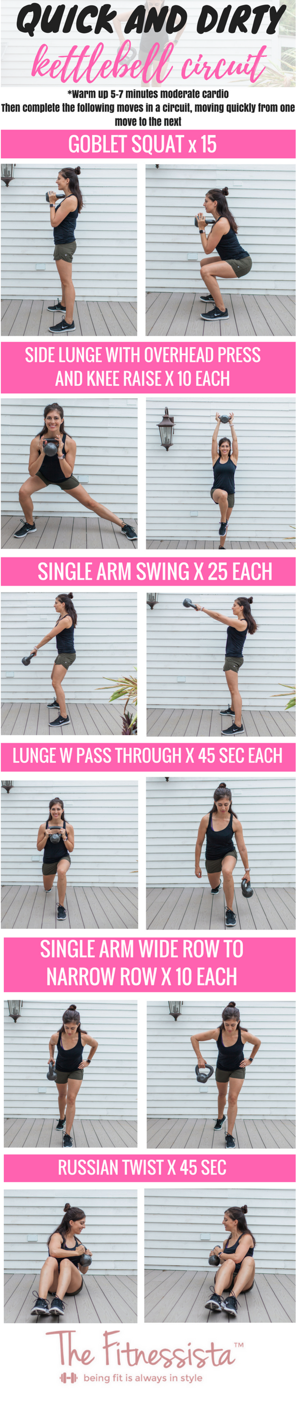 Total Body Kettlebell Circuit Workout This Will Strengthen Your Entire Using A Single