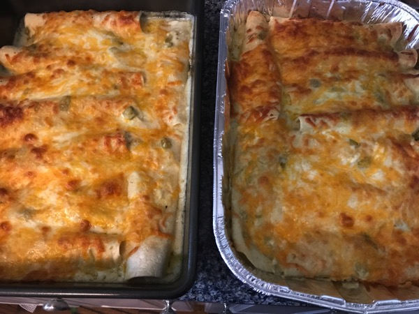 Sour cream enchiladas