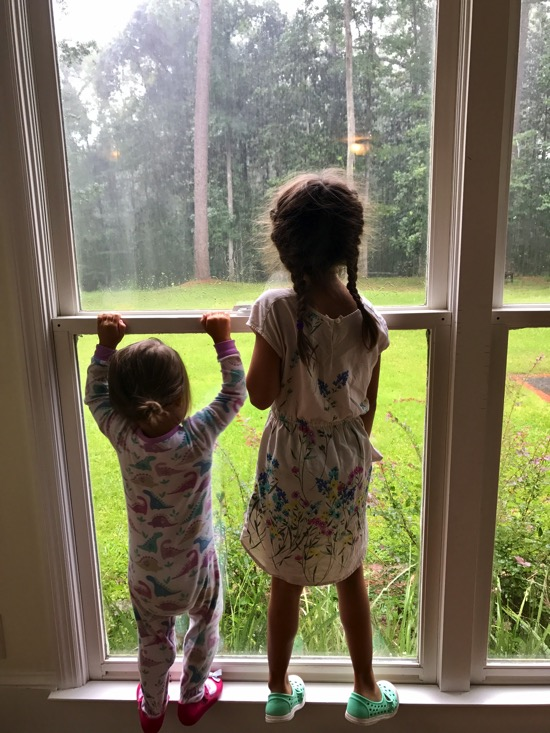 Watching the rain