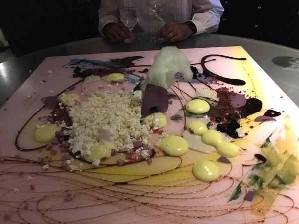 Alinea dessert fiberglass painting