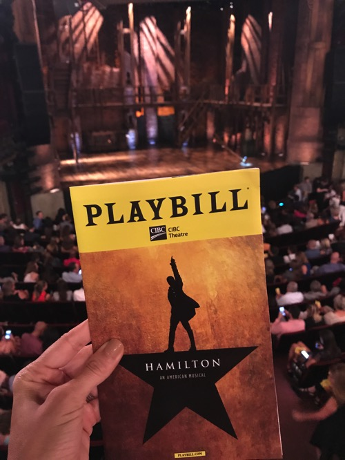 Hamilton Chicago playbill