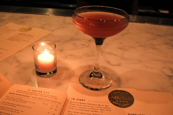 Heritage Chicago lavender cocktail