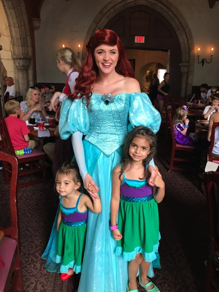 the girls with Ariel