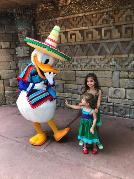 the girls with Donald